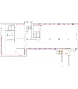 Kitchen unit with storage facilities for schools / kindergartens
