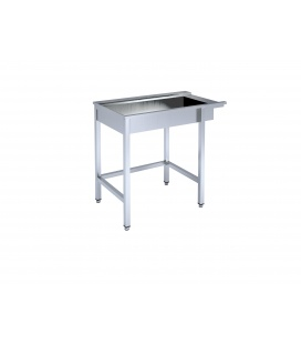 Ierāmēts galds ar vannu  trauku mazgāšanas iekārtai