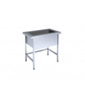 Framed table with basin