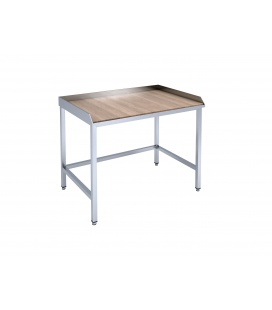 Konditorejas galds ar koka darba virsmu