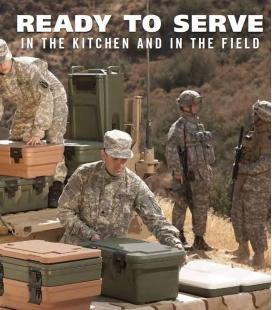 Cambro termokonteineri un trauki armijai