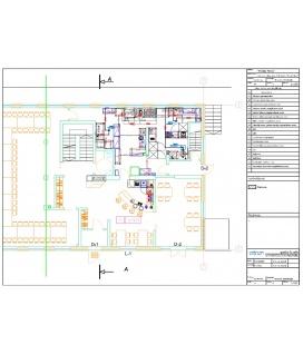 Кухонный блок со складскими помещениями для гостиниц