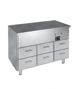 2freeze siltais galds ar atvilknēm