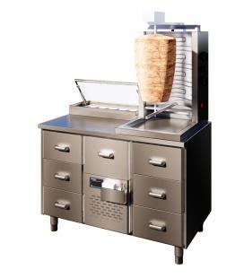 2Freeze СTG12.3.MD.3. Aukstuma galds kebabu pagatavošanai