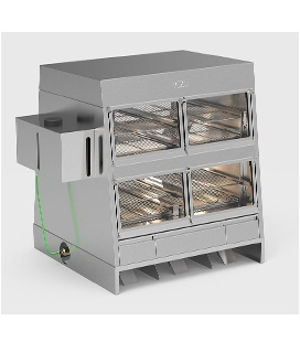 Heated display cases for ready meals